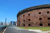 Historical Castle Williams on Governors Island in New York Harbor