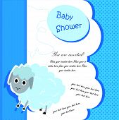 Baby shower card design with lamb