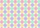 Abstract Flower Ball And Rhomboid Pattern On Pastel Background