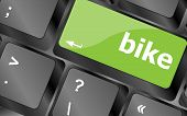 Bike Word On Keyboard Key, Notebook Computer Button
