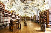 The Theological Hall In Strahov Monastery In Prague.