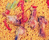 paella with chicken