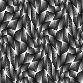 Design Seamless Monochrome Grid Geometric Pattern
