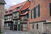Cityview Of Medieval City Quedlinburg In Germany
