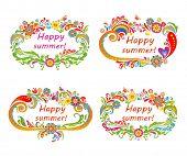 Summery floral frames