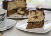 Homemade Cake With Ricotta, Nuts And Chocolate