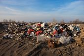 picture of landfills  - Piles of garbage on the city landfill - JPG