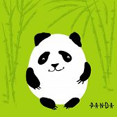 Cute cartoon panda, vector character