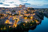 Toledo Cityscape at dusk Spain