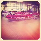 Airport waiting area with seating - instagram
