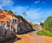Fairy Stream (Suoi Tien), Mui Ne, Vietnam. One of the tourist attractions in Mui Ne