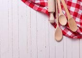 Kitchen Towel And Spoons