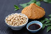 stock photo of soybeans  - Japaneese traditional soybean processed foods Miso - JPG