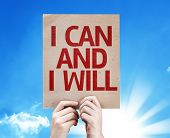 I Can and I Will card with sky background