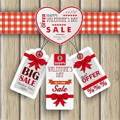 Heart Valentinsday Price Stickers Wood