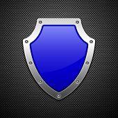 Vector shield. Vector illustration. Vector background.