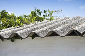 stock photo of toxic substance  - Asbestos roof - JPG