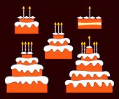 picture of three tier  - Birthday or anniversary cakes with one - JPG