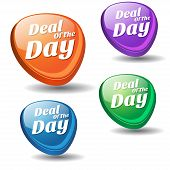 Deal Of The Day Colorful Vector Icon Design