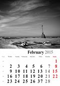 Calendar 2015 February. Nature Image Selection. Europe. International Format