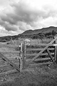 Padlocked Gate To Mountains