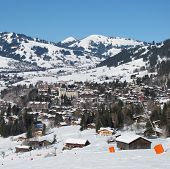 Ski Slope And View Of Gstaad I