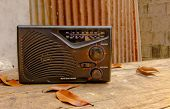 Vintage Radio In Picture Of Vintage Style, Retro Filtered