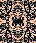 Leaf pattern in black and cream color
