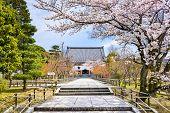 Kyoto, Japan at Chishaku-in Temple in the spring season.