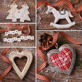 Christmas Collage With Vintage Decorations