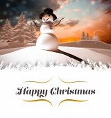 foto of snow border  - border against snow man - JPG