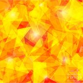 Geometric background of triangular polygons