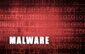 foto of malware  - Malware on a Digital Binary Warning Abstract - JPG