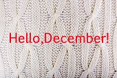 Hello December, greeting card