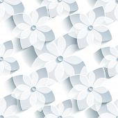 picture of sakura  - Stylish seamless pattern with 3d sakura blossom  - JPG