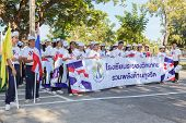 Rayong, Unidentified Thai People In Parade Anti-corruption Day.