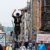 Street Performer On The Rope