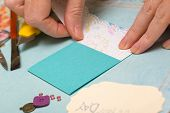 pic of card-making  - scrapbook background - JPG