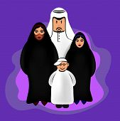 Arab Funny Characters - Family Group