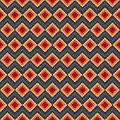 Modern elegant zig zag and rhombus seamless pattern.