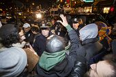 Protesters face off NYPD