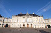 The Royal Couple's winter residence Amalienborg in Copenhagen Denmark.