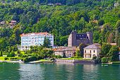 A town on the Lake Maggiore in Northern Italy.