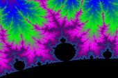 picture of mandelbrot  - a digitally generated colorful fractal background based on the mandelbrot set - JPG
