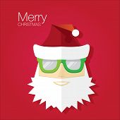 Christmas hipster poster for party or card.
