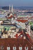 View Of The Center Of Vienna From A High Point