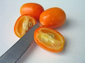 cutting tangerine