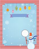 Christmas background for card or invitation with decorations