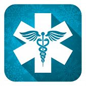 emergency flat icon, christmas button, hospital sign
