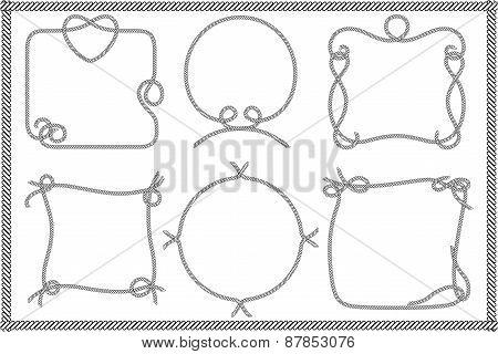Set of Old Rope Frames
